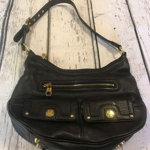 HB-00 Stone Mountain Shoulder Bag w/ Gold Accents